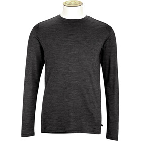 Alchemy M's 180GSM Single Jersey Merino Long Sleeve Crew Shirt Black